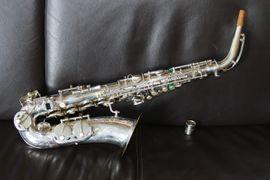 Blasinstrumente - Beaugnier Alt Saxophon 1955 versilbert