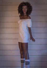 Lebensechte Ebony Sexdoll Liebespuppe Nava