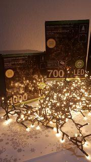 Weihnachtsbeleuchtung 700 LED Cluster Lichterketten