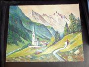 Ölbild signiert mit Dreher Landschaft