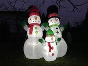 250 cm Aufblasbare XXL Schneemänner