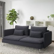 IKEA SÖDERHAMN 3er-Sofa dunkelgrau
