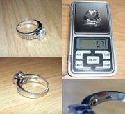 Ring aus Silber 925 Swarovski-Steine