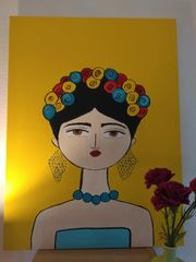 Frida in yellow - Acryl auf