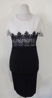 96 schwarz weißes Kleid mit