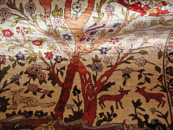 Türkische Hereke Seidenteppich signiert reine