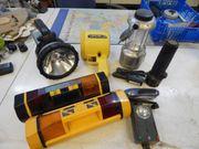Verschiedene alte Taschenlampen