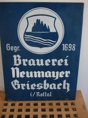 Altes Emaille Schild 50er Jahre