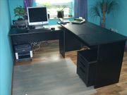 Komplette Büroeinrichtung aus Holz in