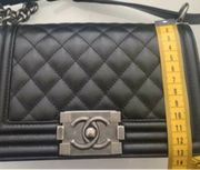 Chanel Black Boy Tasche