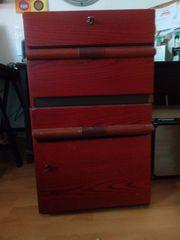 Rollcontainer Holz fürs Büro