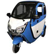 Stormborn Y8 Elektro-Kabinenfahrzeug - blau weiß -