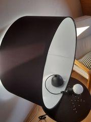 Stofflampenschirm schwarz weiß