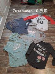 5 Pullover Hoodies Langarmshirts Gr