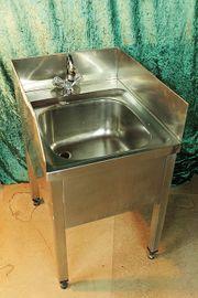 Spülbecken - Edelstahl - Handwaschbecken - Metall - Gastro