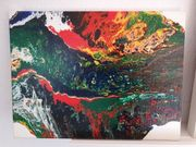 Acrylbild Gemälde abstrakt bunt - 30cm