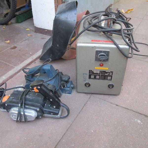 Elektro Schweißgerät Elektrohobel Schwingschleifer