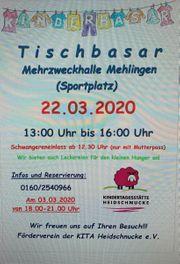 Tischbasar 22 03 2020 Mehlingen