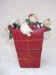 Weihnacht-Deko Töpfchen Väschen mit 4