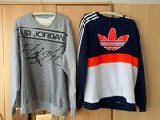 Air Jordan und Adidas Pullover