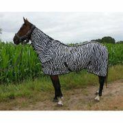 Fliegendecke Zebra mit Halsteil - gestreift