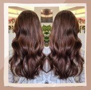 Braune Herbst Haarfarbe beim Coiffeur