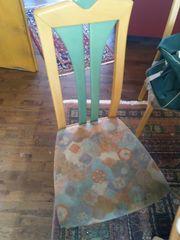 Esszimmertisch rund mit 6 Stühlen