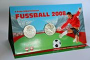 2 x 5 Euro Fussball