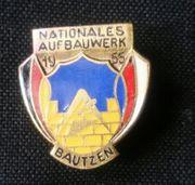 Abzeichen Bautzen des Nationalen Aufbauwerkes