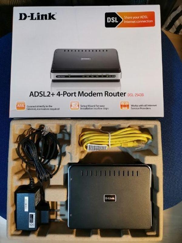 ADSL2+4-Prot Modem Router