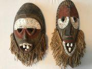 Zwei afrikanische Holzmasken - Alt 30