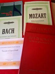 20 Notenbücher f Klavier Bach