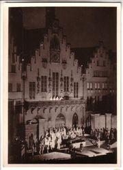 Historische Postkarte Römerbergfestspiele Frankfurt am