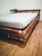 Schönes Bambus Bett Bettgestell