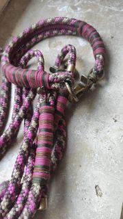Halsband Leine Tau-Set HU38cm Beere