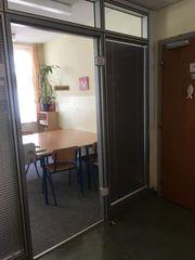 Glaselemente inkl Tür innenliegende Rollos