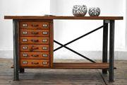 Urige Werkbank Loft Tisch Antik
