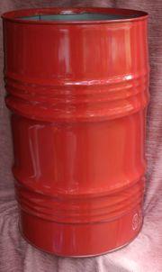 Rotes stabiles 80l Metallfass Feuertonne
