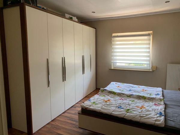 Nolte Schlafzimmer - Kleiderschrank + Bett mit Nachttischen in ...