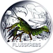 3 EUR Tier Taler Flusskrebs