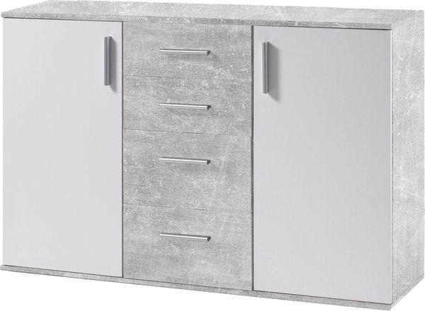NEU Kommode weiß-beton Sideboard Anrichte
