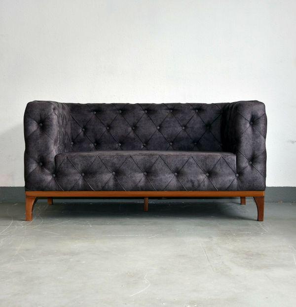 Lagerverkauf Design Möbel 2 Sitzer Modern Chesterfield Sofa Couch In