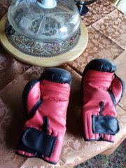 Box Handschuhe rot schwarz