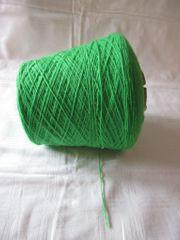 grüne Wolle auf Kone Cone
