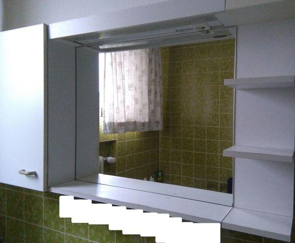 Bad Spiegelschrank Mit Spiegel 4 Tlg Weiss Mit Beleuchtung