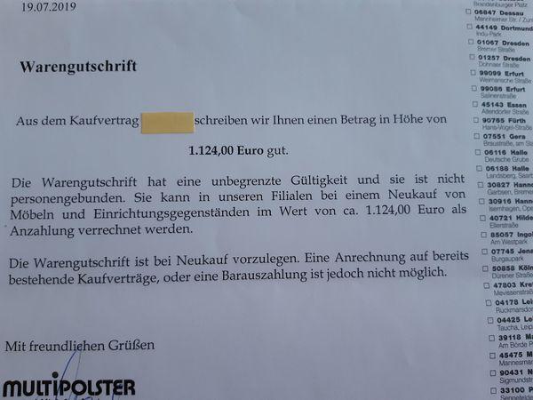 200 EUR geschenkt durch Warengutschrift