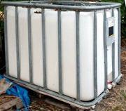 3x 1000l IBC Wassertank Gitterbox