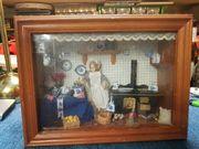 Alte Puppen Stube Küche im