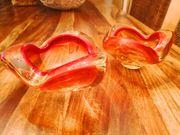 2 wunderschöne Muranoglas Aschenbecher in