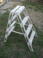 ZARGES Stufen-Steh-Leiter aus Alu beidseitig